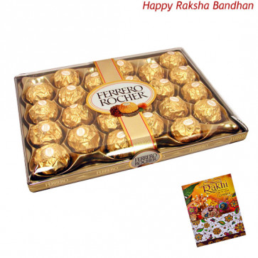 Ferrero Rocher 24 Pcs (Rakhi & Tika NOT Included)