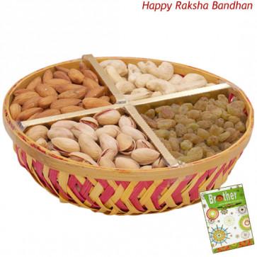 Assorted Dryfruits Basket (Rakhi & Tika NOT Included)