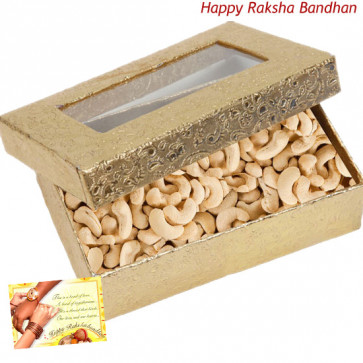 Cashew Box (Rakhi & Tika NOT Included)