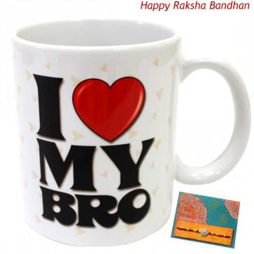 I Love My Bro Mug (Rakhi & Tika NOT Included)