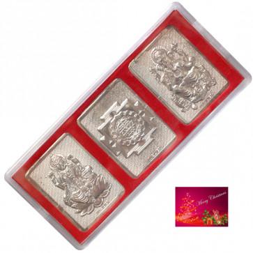Silver Laxmi Ganesha Yantra (3 Grams)