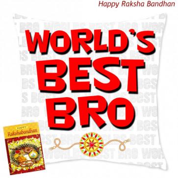 World's Best Bro Cushion (Rakhi & Tika NOT Included)