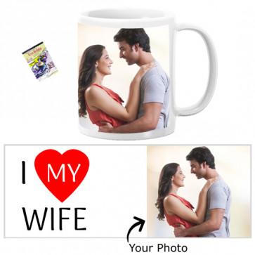 I Love My Wife Personalized Mug & Card