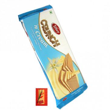 Crunch N Cream Wafer Biscuit - Vanilla Flavor