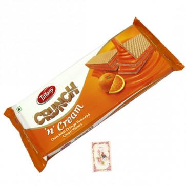 Crunch N Cream Wafer Biscuit - Orange Flavor