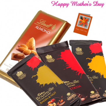 Lindt Special - 3 Bournville 30 gms, Lindt Chocolate 100 gms and Card