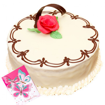 Vanilla Cake 1/2 Kg + Card