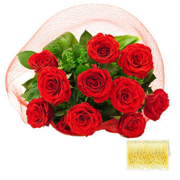 Excellent Choice - 36 Red Roses + Card