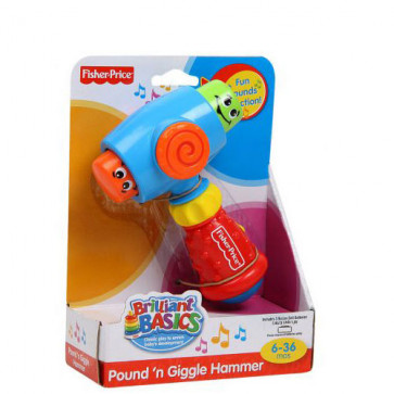 Fisher-Price Brilliant Basics - Pound n' Giggle Hammer
