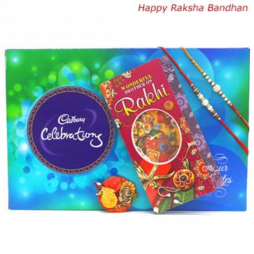 Choco Surprise - Celebrations with 2 Rakhi and Roli-Chawal