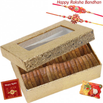 Anjeer Delight - Anjeer Box with 2 Rakhi and Roli-Chawal