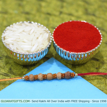 Sandalwood & Beads Rakhi