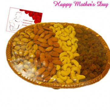 Dryfruit Basket - Assorted Dryfruits Basket 800 gms and Card