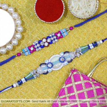 Set of 2 Rakhis - Fancy Rakhi set