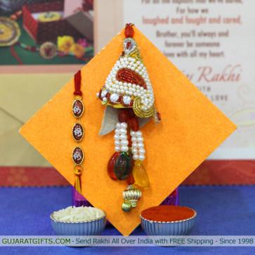 Set of 2 Rakhis - Lumba with Mauli Rakhi