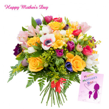 Special Bunch - Bunch of 15 Assorted Flowers and Card