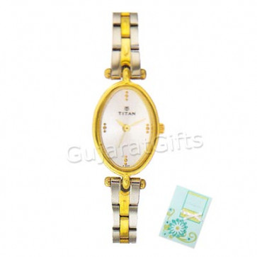 Titan Golden & Silver Watch