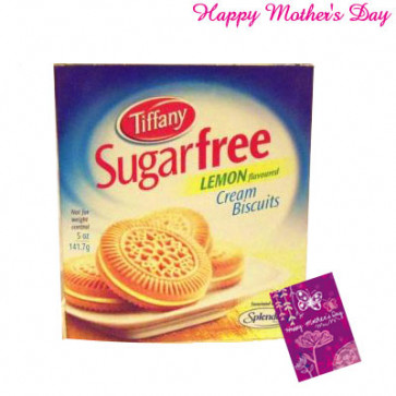 Tiffany Sugarfree Lemon Cream Biscuits and Card