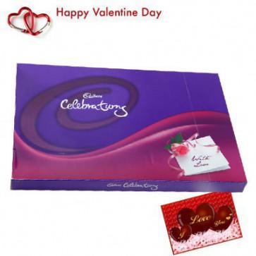 Celebration 121 gms - Cadbury Celebration 121 gms + Valentine Greeting Card
