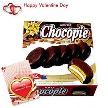 Chocopie - Chocopie 330 gms + Valentine Greeting Card