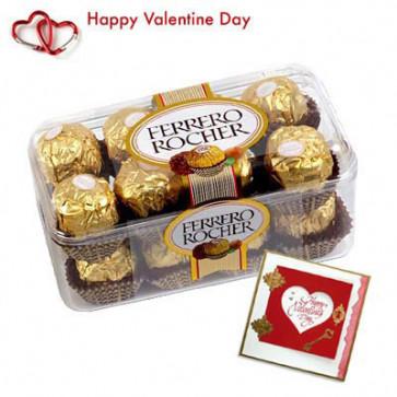 Ferrero Rocher - Ferrero Rocher 16 pcs + Valentine Greeting Card