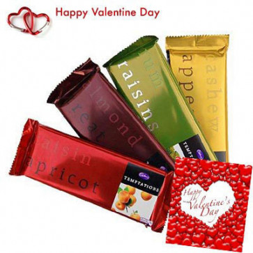 Temptations - 4 Temptation 72 gms each + Valentine Greeting Card