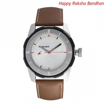 Fastrack Analog Watch Brown Strap
