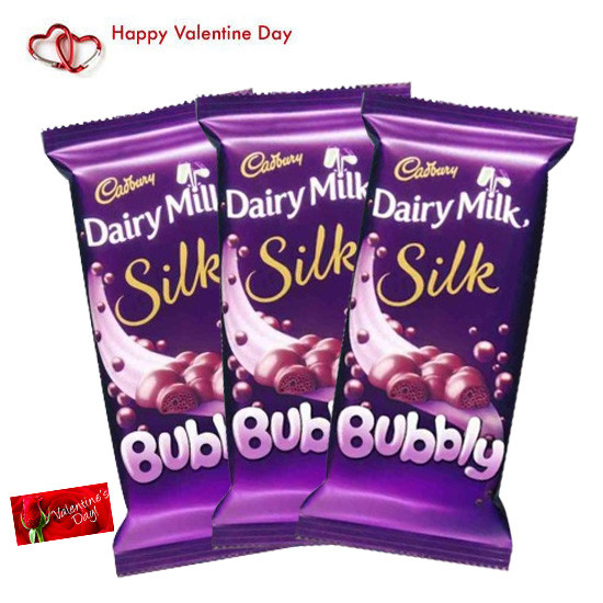 Triple Bubble 3 Dairy Milk Silk Bubbly Valentine Greeting Card