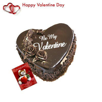 Valentine Chocolate Heart Chocolate Heart Shaped Cake 1 Kg