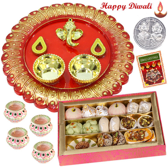 Ganesha Mithai Thali Kaju Mix 250 Gms Ganesha Designer