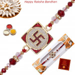 Swastik Diamond & Beads Rakhi