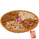 Crunchy Perfect Tray - Assorted Dryfruits in Tray with a Handmade Chocolates 500 gms