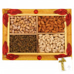 Floral Dryfruit Tray - Assorted Dry fruits 400 gms in Tray