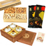Gift Combo - Kanpuri Ladoo,  Assorted Dryfruits, 2 Bournville