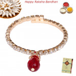 Diamond & Red Stone Bracelet Lumba