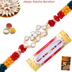 Beads & Diamond Mauli Rakhi