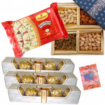 Perfect Gift Idea - Soan Papdi, Assorted Dryfruits, 3 Ferrero Rocher 4 pcs each