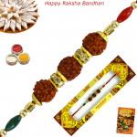 Rudraksha & Diamond Rakhi
