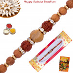 Rudraksha Beaded Sandalwood Rakhi