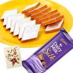 Super Sweet - Kaju Kesar Katli, Cadbury Dairy Milk Silk