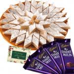 Sweets Combo - Kaju Katli, 4 Dairy Milk