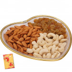 Wonderful Gift Tray - Assorted Dryfruits 300 gms in a Decorative Tray