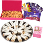 Wonderful Hamper - Kaju Pista Roll, Almonds Box, Assorted Cadbury Hamper