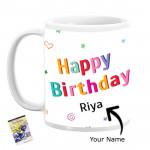 Happy Birthday Personalized Mug & Card