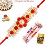 Glittering Floral Diamond Rakhi