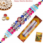 Dazzling Diamond & Beads Fancy Rakhi
