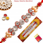 Elegant Diamond & Pearl Fancy Rakhi