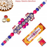 Delicate Beads with Diamond Fancy Rakhi