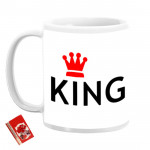 King & Queen Personalized Couple Mugs & Card