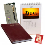 New Beginning - New Year Calendars, Executive Diary, Parker Pen & Card